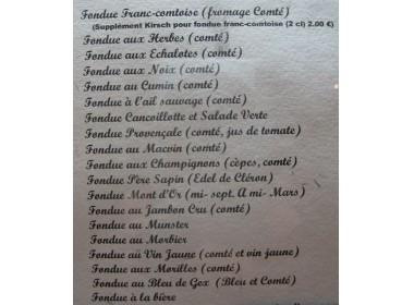Liste de fondues au fromage