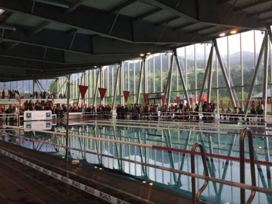 Ouverture de la nouvelle piscine de saint gervais les bains for Piscine st gervais