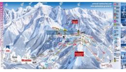 Plan du domaine skiable des Houches