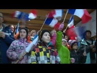 Coline Mattel médaillée: Célébration aux Contamines-Montjoie